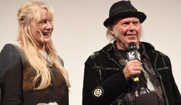 Daryl Hannah and Neil Young premiered their film Paradox at the South By South West Festival in Marc