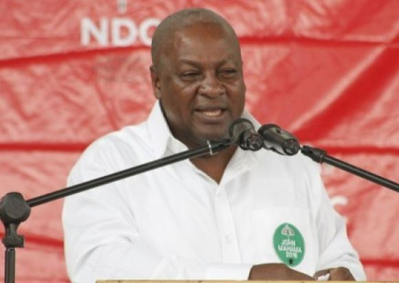 John Mahama at rally