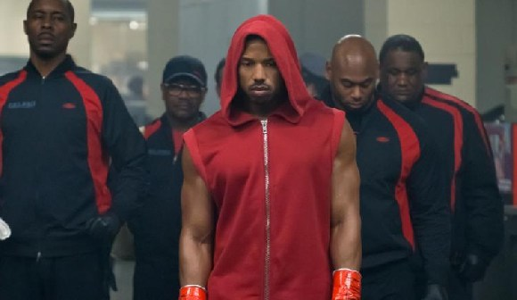 Michael B. Jordan (center) in 'Creed II'