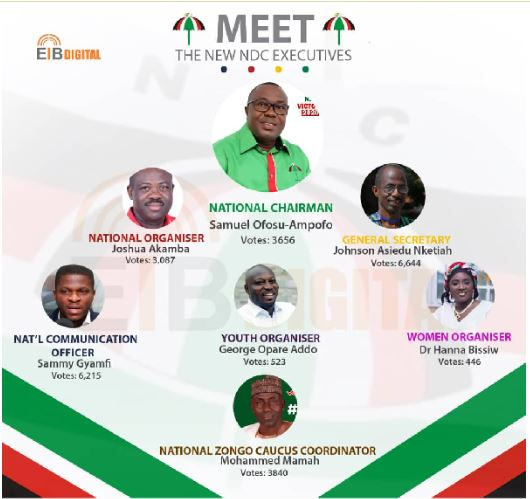 NDC elected executives