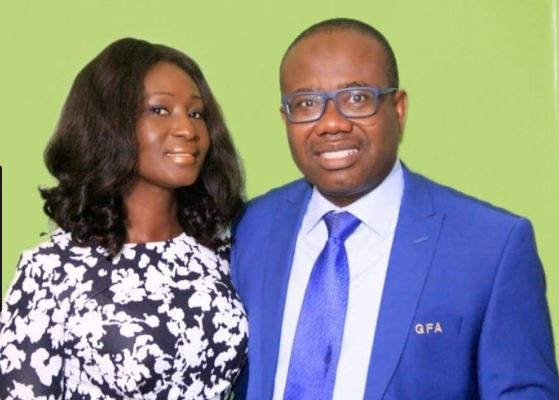Nyantakyi and wife Miriam