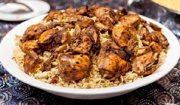 The woman served up her boyfriend's remains in a traditional Emirati dish like this