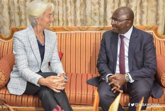 Bawumia welcomes IMF boss new