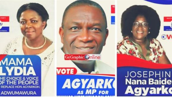 Late Agyarko and wives