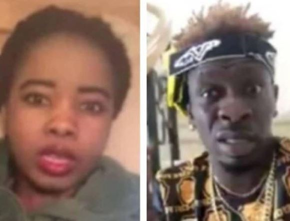 Shatta Wale and the lady who accused him of fraud