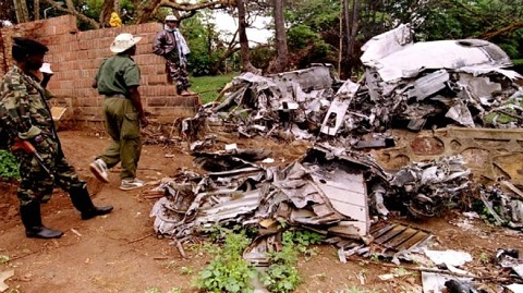 The plane carrying Habyarimana was shot down by a missile in April 1994
