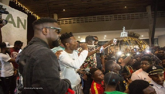 There was a massive turnout for the launch of Strongman's album launch