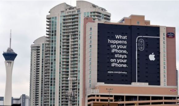 Apple placed this billboard at the recent Consumer Electronics Show