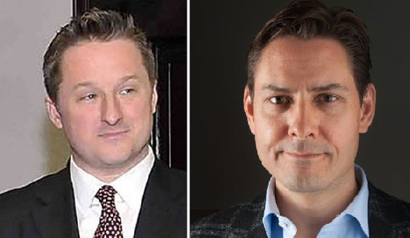 Canadians Michael Spavor (L) and Michael Kovrig are being detained in China