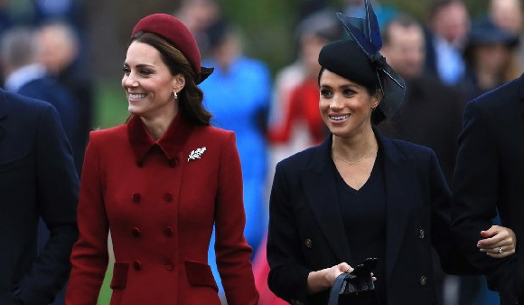 Catherine Middleton and Meghan Markle