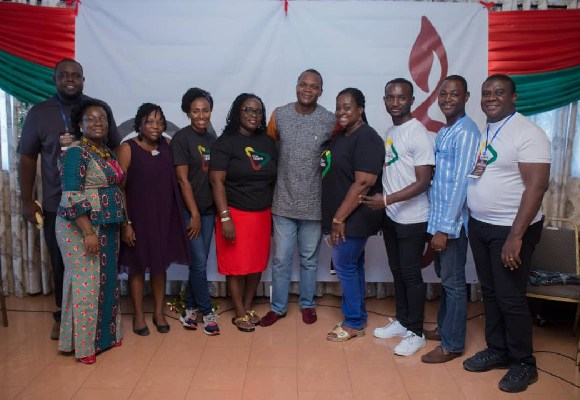 Diana Hopeson with organisers of maiden congress of the Christian Music Association Ghana