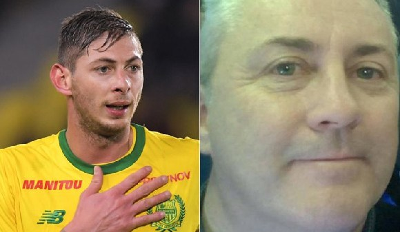 Emiliano Sala (left) was on board the plane being flown by pilot David Ibbotson