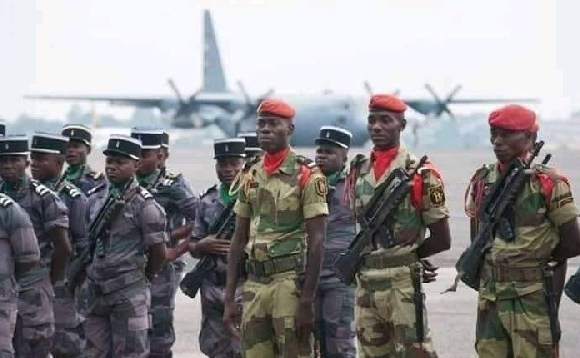 Five military officers who took over government in Gabon have been arrested