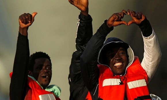 Forty-seven stranded migrants finally came to shore in Catania