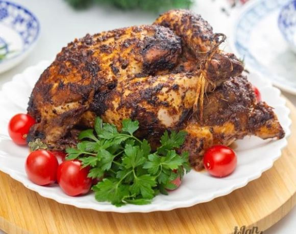 Full chicken grilled