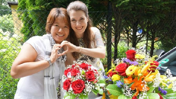 Ai Nakajima and Tina Baumann are married in Germany, but Japan doesn't recognise that