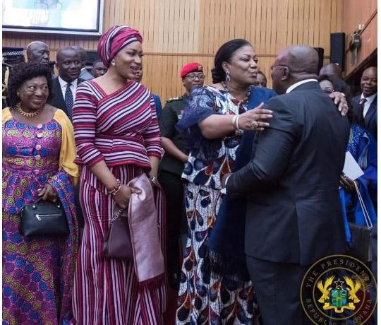 Akufo-Addo and Rebecca kiss