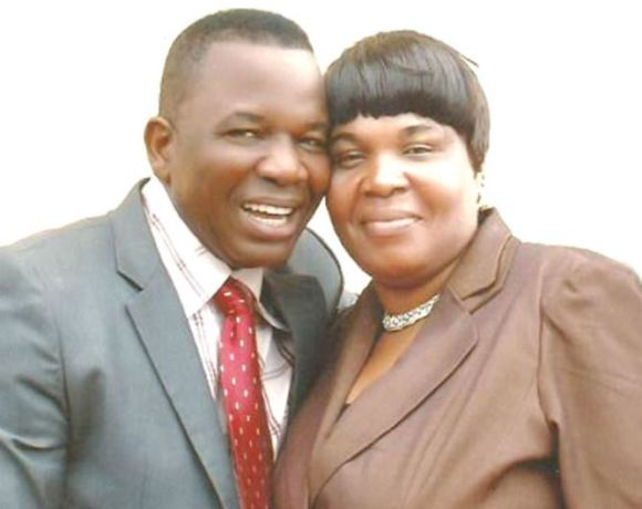 Chiwetalu and wife