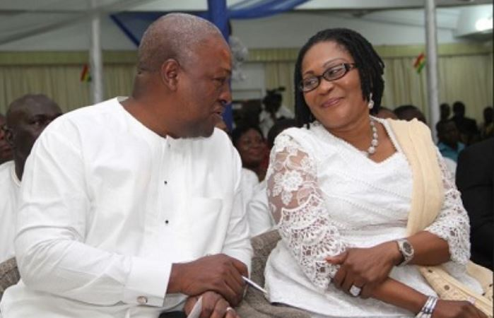 Former President John Mahama and wife, Lordina