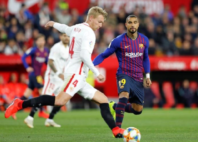 Kevin Prince Boateng will make an appearance for Barcelona in the UCL