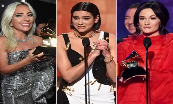 Lady Gaga, Dua Lipa and Kacey Musgraves won some of the night's biggest prizes