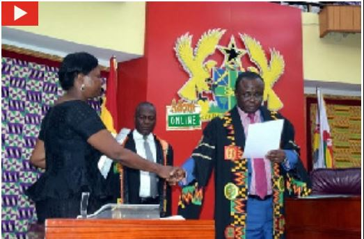 Lydia Alhassan was sworn in as Ayawaso West Wuogon MP, Tuesday, Ghana Political News Report Articles