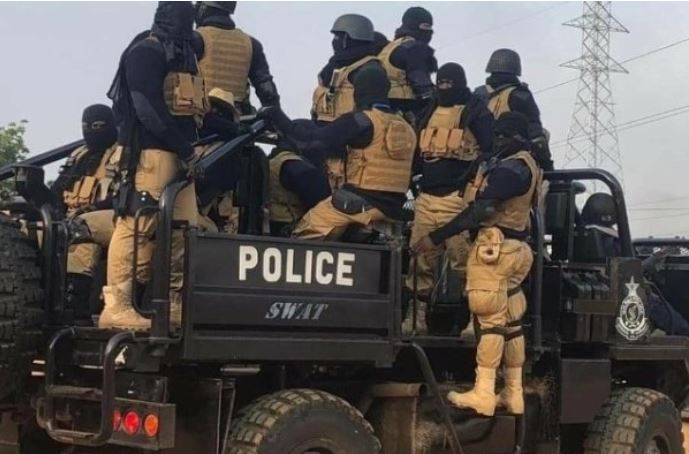 Masked SWAT members