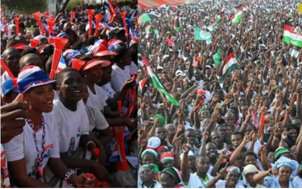 NPP and NDC supporters, Ghana Political News Report Articles