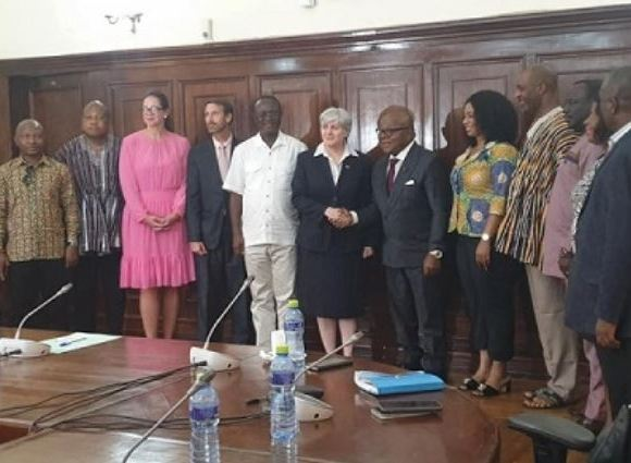 The new US Ambassador to Ghana, Stephanie S. Sullivan with some members of parliament
