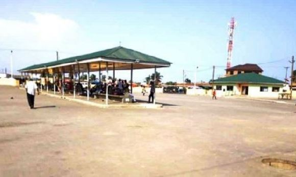 A view of the bus terminal