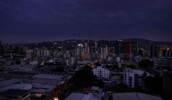 Caracas and most of the rest of the country have no power