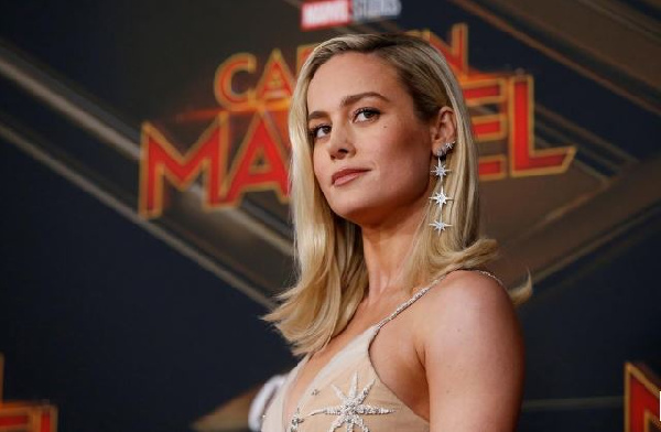 Cast member Brie Larson poses at the premiere for the movie 'Captain Marvel'