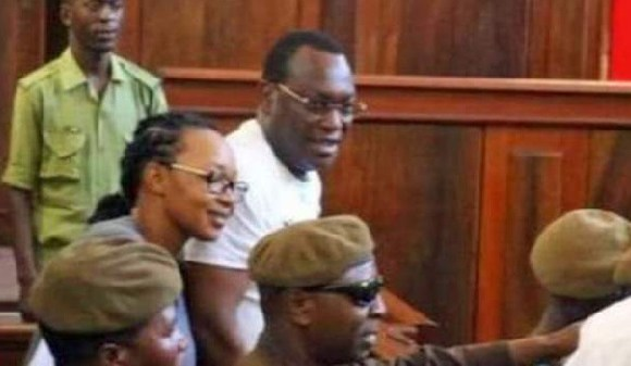 Esther Matiko (L) and Freeman Mbowe (R) have spent more than three months in jail
