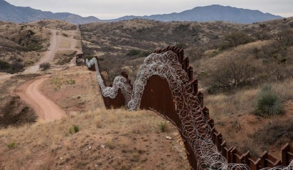 Fences already run along stretches of the US-Mexico border