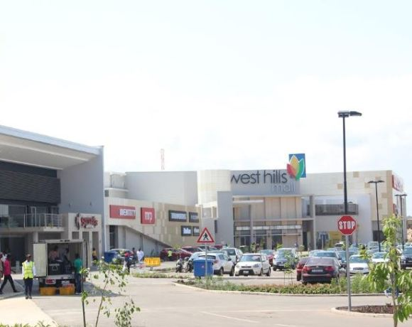 Front view of the West Hills Mall