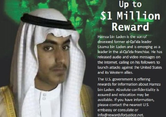 Hamza Bin Laden's whereabouts are not known