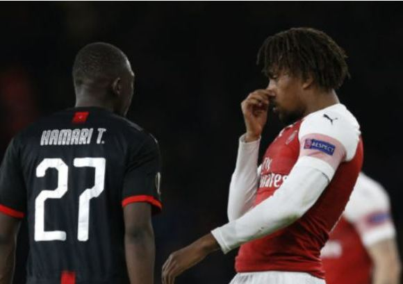 Iwobi mock Rennes player