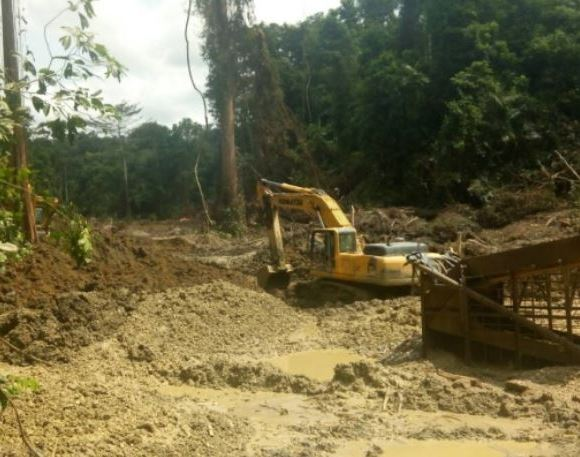 Mining in forest
