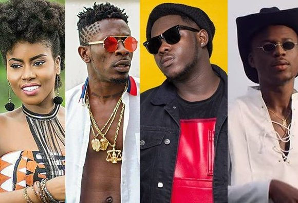 MzVee, Shatta Wale, Medikal and Joey B are among acts whose videos have been chosen for the category