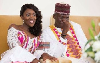 Stonebwoy and his wife, Louisa