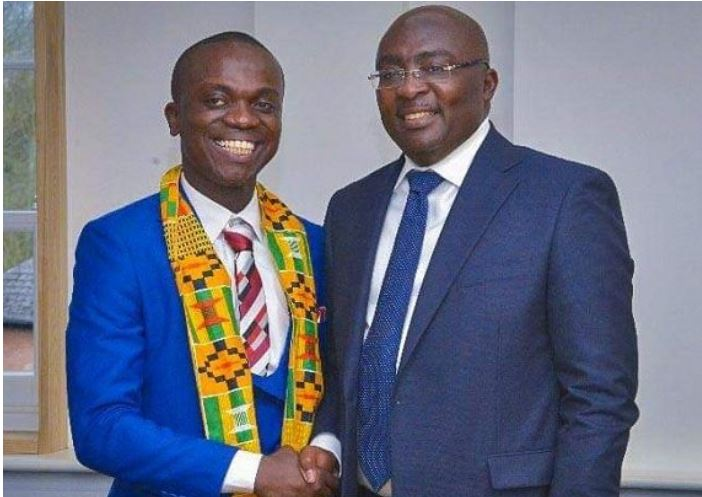 Vice President Dr. Mahamadu Bawumia (right) and Kwasi Nyame