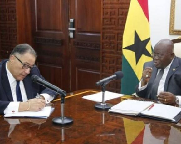 World Bank Vice President for Africa, Dr. Hafez Ghanem and President Nana Addo Dankwa Akufo-Addo