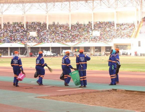 Zoomlion cleans Tamale stadium after Independence Day celebrations