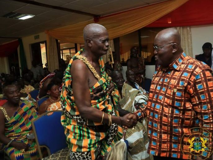 Addo Dankwa Akufo-Addo with some chiefs
