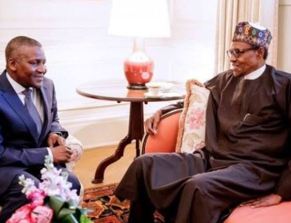 Aliko Dangote and Buhari