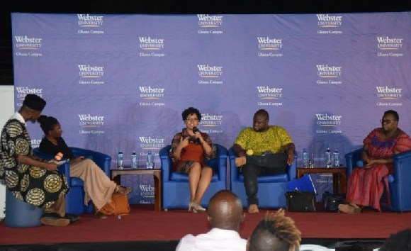 Erinn Ransom-Ofori was speaking at a public lecture organised by Webster University-Ghana
