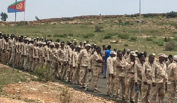 National service in Eritrea is supposed to last 18 months but it can continue indefinitely