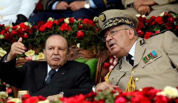 President Abdelaziz Bouteflika with his Army Chief