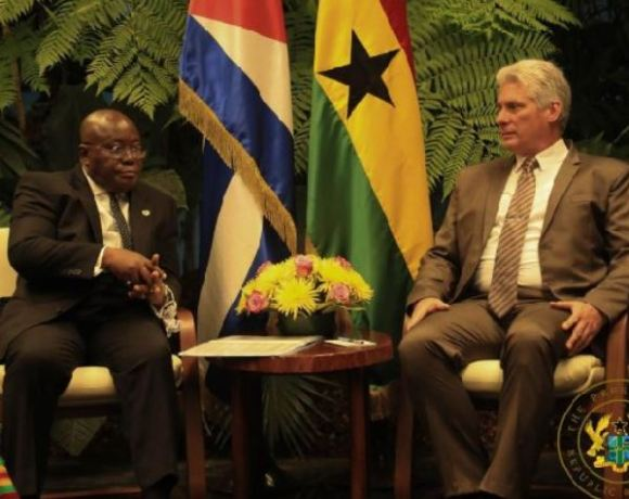 President Nana Akufo-Addo and President Miguel Diaz-Canel