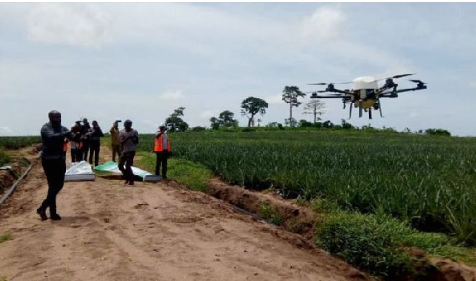 The drones come in 15 and 25 litres and have the capacity of spraying two hectares in 30 minutes